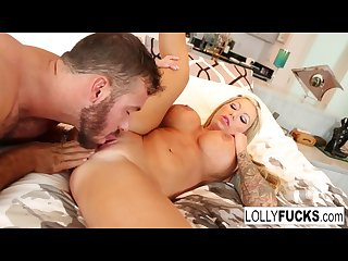 Blonde babe Lolly Ink gets her wet pussy eaten