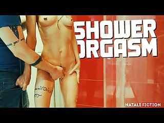 My boyfriend makes me have several orgasms in the shower natali fiction