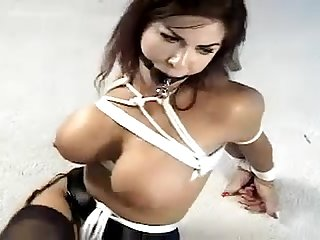 Alexis tied in sexy lingeri