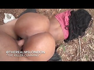 Slutty big titt ebony jas interracial outdoor sex Twerk on dick