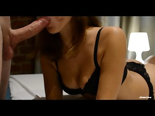 She knows how to make a hot sensual blowjob