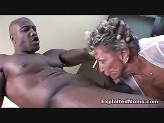 Granny gets bbc for the first time and she loves it