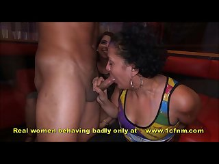 Wives sucking strippers cocks at cfnm party