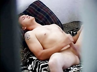 Str8 stepson caught masturbating