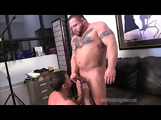 Muscle Bull blowjob