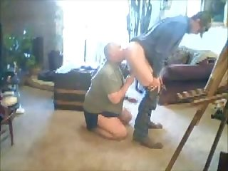 Redneck rimmed and rough fuck after work