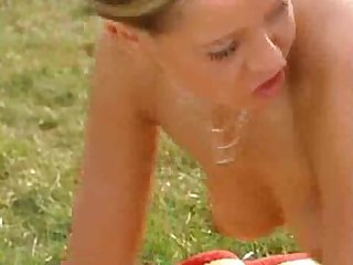 Hot voyeur joins teens getting it on in the park
