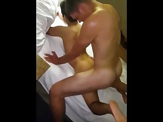 Hotel bareback orgy party