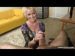 Cum load on blonde housewife hd