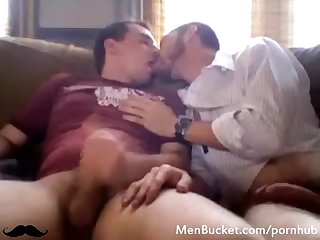 Two amateur dudes rubbing each other S cocks