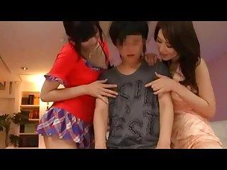 Japanese cfnm virgin penis teasing