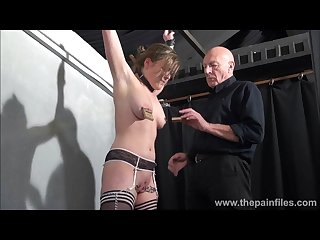 Sexy slave taylor hearts pussy clamped suffering and cunt whipping of blond