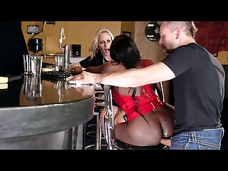 Aching For Anal: Diamond Jackson & Simone Sonay Public Threesome