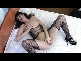 Depraved slut in a beautiful body stocking