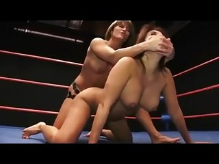 Nude Wrestling match asian vs white