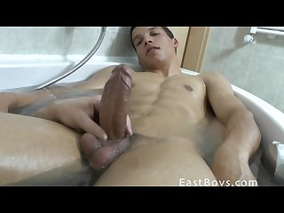 Latin boy handjob and cum