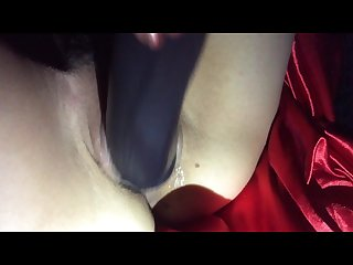 My wife fucking a big black dildo