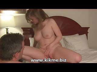 Cuckold husband cleans his Hotwife after fucking another man