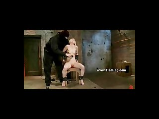 Slut nipples tortured with bondage clips