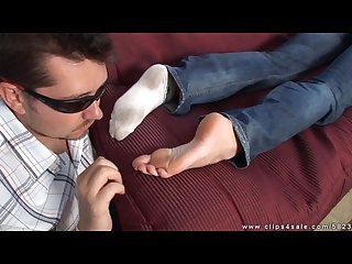 Sleeping girl s feet worshiped tickled