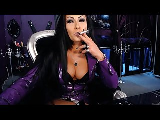 Mistress kennya smoking fetish 2