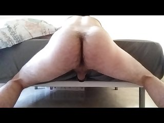 Guy moaning loud while fucking an homemade fleshlight