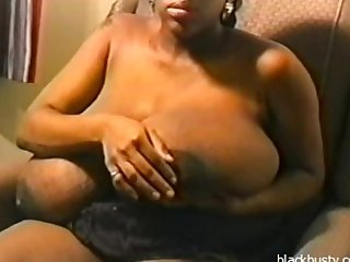 Black mama with huge black tits
