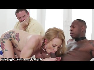 Big titty milf cuckold with bbc