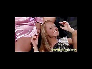 Golden shower lesbians get soaked