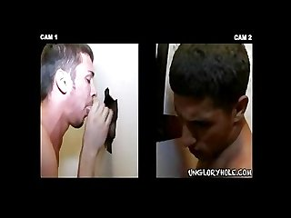 Tan hunk S gloryhole bj huge cum shot