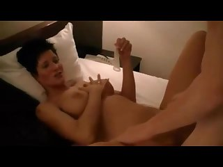 Boy fucks wife in front of her husband