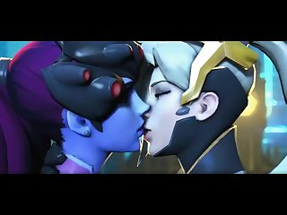 Mercy and widowmaker kissing for 20 minutes