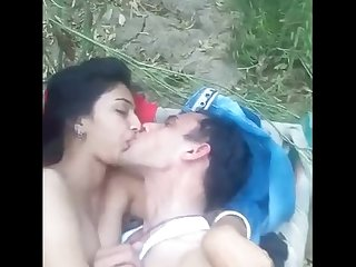 Desi lover fuck in romantic mood in Jungle
