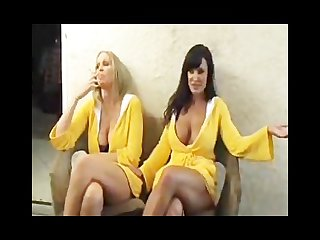Lisa ann and julia ann just smoking
