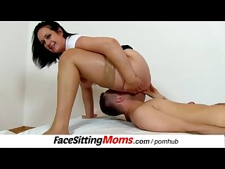 Skinny boy and busty lady Facesitting feat czech mom danielle