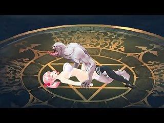 Fighting girl Sakura r sex animations close up part 2