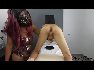 Miss fluo loves milking the cum out of the cock