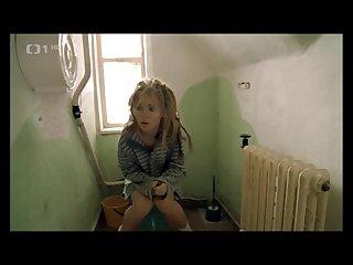Czech girl shitting at the men S Toilet