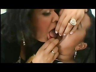 Domination lesbian kiss