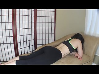 Girl Farting in yoga pants