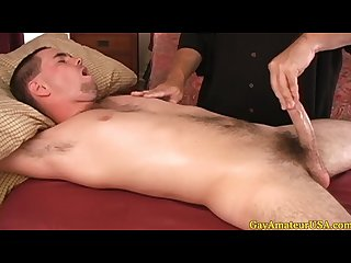Jock dude visits a gay massage parlor