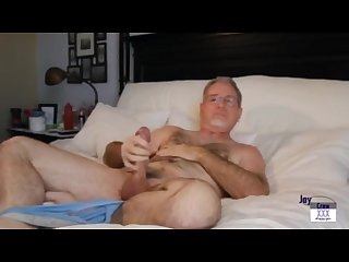 Straight daddy jay crew solo jerk off session