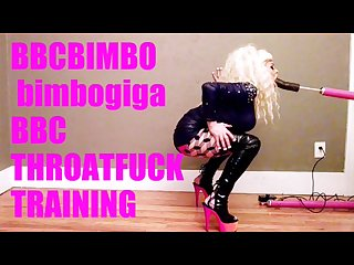 Bbcbimbo bimbogiga trains for an upcoming bbc blowbang
