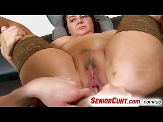 Fat lady Eva aged vagina fingered and toyed pov zoom