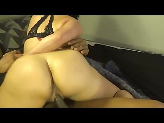 Daughter bounce\'s her bubble butt on big black cock!