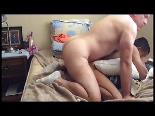 Military daddy fucks se asian boy