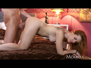 Mom sexy tight spanish redhead takes on huge cock and receives facial