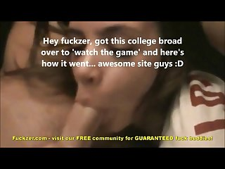 College babe gives a mean pov blowjob