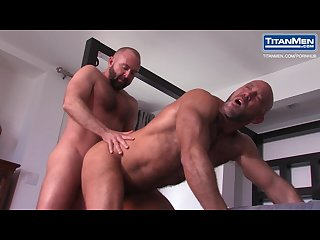 Huge hairy muscle daddy jesse jackman gets fucked