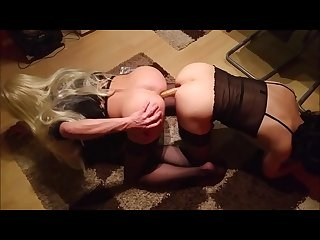 Hot crossdresser great fucking whit big dildo sex shemale